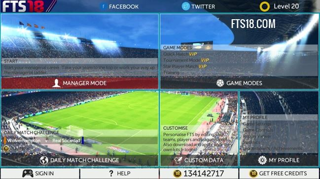 Download FTS 18 HD MOD APK