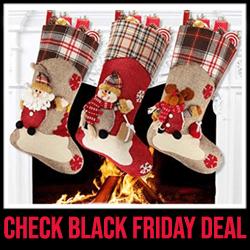 Aitey Santa, Snowman, Reindeer Stockings for Xmas Black Friday Sale