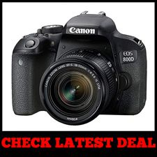 Canon EOS 800D (Rebel T7i) - Best for Videography Black Friday Sale