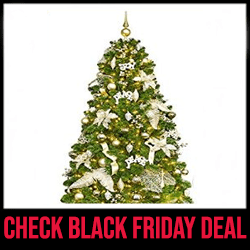 KI Store Artificial Xmas Tree - Best Christmas Tree with Lights Black Friday Sale