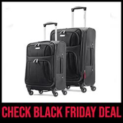 Samsonite Aspire Xlite Luggage Sets for College Students Black Friday Sale
