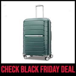 Samsonite Freeform Hardside Bag with Double Spinner Wheels Black Friday Sale