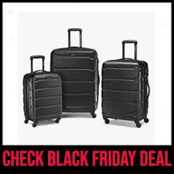 Samsonite Omni PC Luggage Set for Air Travel Black Friday Sale