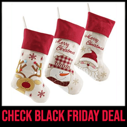 WEWILL Christmas Stockings with Snowman Black Friday Sale